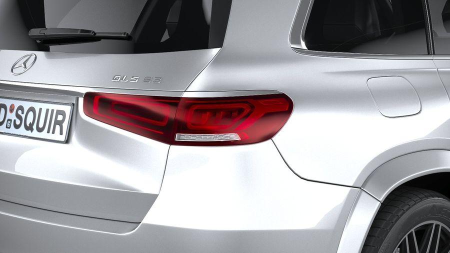 Mercedes-Benz GLS63 AMG 2021 royalty-free 3d model - Preview no. 19