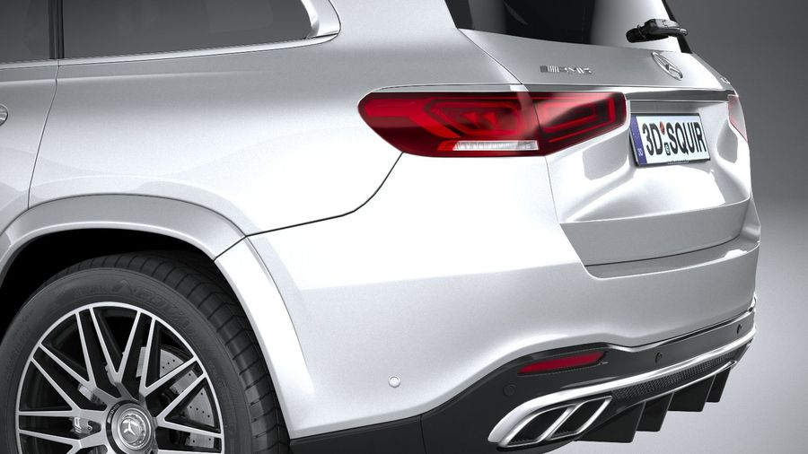 Mercedes-Benz GLS63 AMG 2021 royalty-free 3d model - Preview no. 7