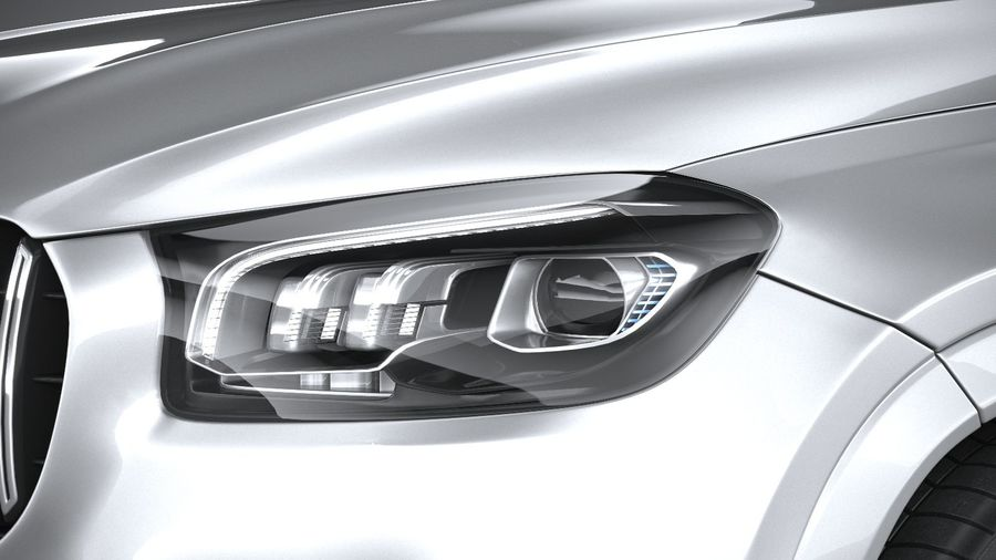 Mercedes-Benz GLS63 AMG 2021 royalty-free 3d model - Preview no. 15