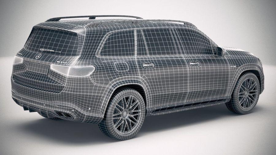 Mercedes-Benz GLS63 AMG 2021 royalty-free 3d model - Preview no. 30