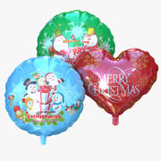 Merry Christmas Foil Balloon Helium 3d model