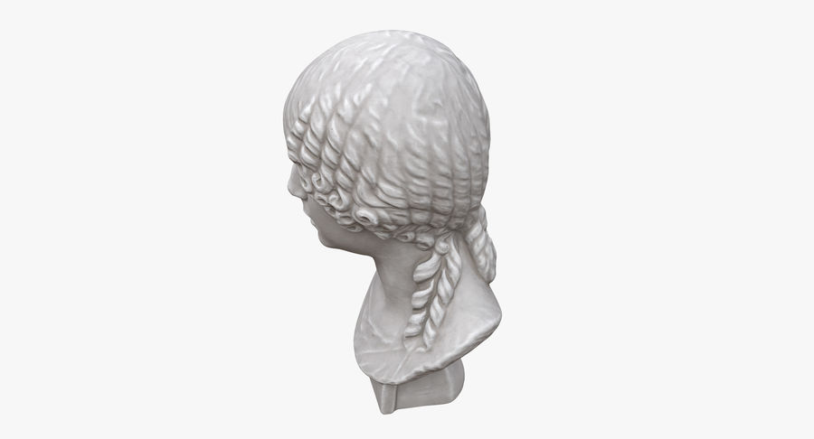 Buste van een meisje royalty-free 3d model - Preview no. 7
