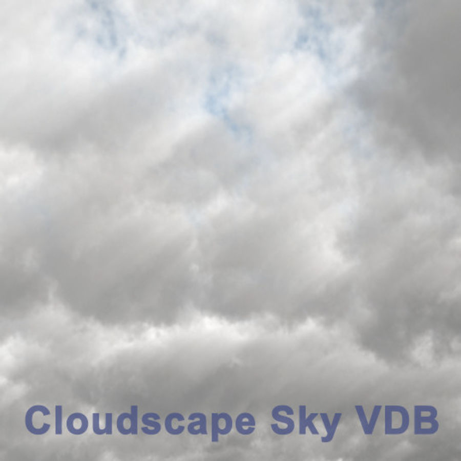 Clouds Sky 01 VDB royalty-free 3d model - Preview no. 1