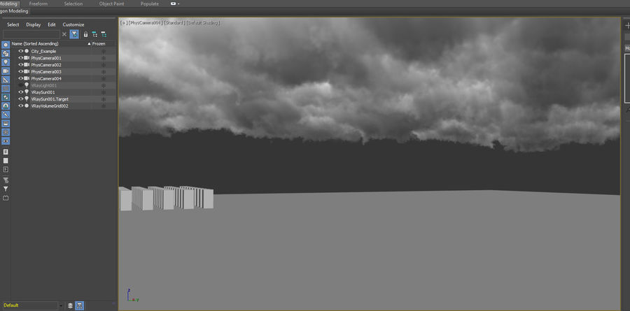 Clouds Sky 01 VDB royalty-free 3d model - Preview no. 9