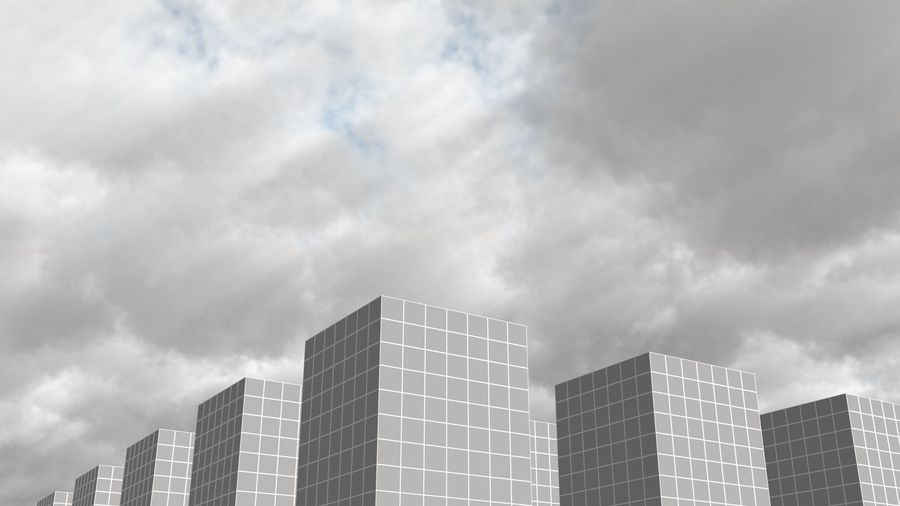 Clouds Sky 01 VDB royalty-free 3d model - Preview no. 3