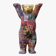 Birleşik Buddy Bear Renkli 3d model