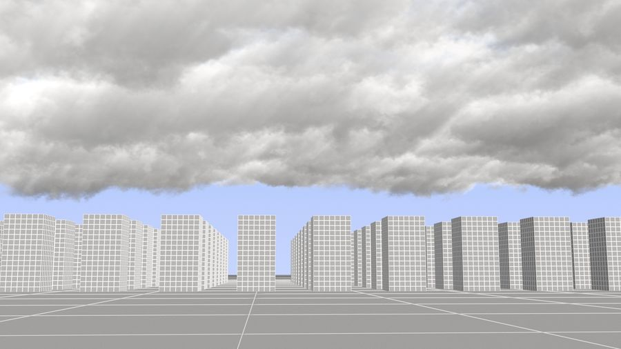 3D Clouds Sky - 6 PACK royalty-free 3d model - Preview no. 9