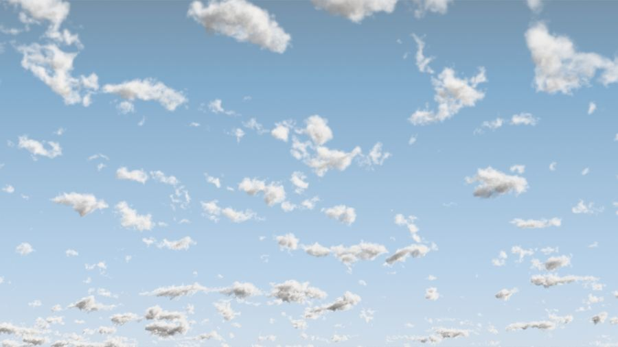 3D Clouds Sky - 6 PACK royalty-free 3d model - Preview no. 6
