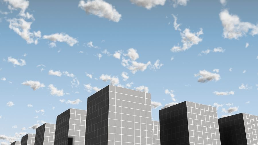 3D Clouds Sky - 6 PACK royalty-free 3d model - Preview no. 17