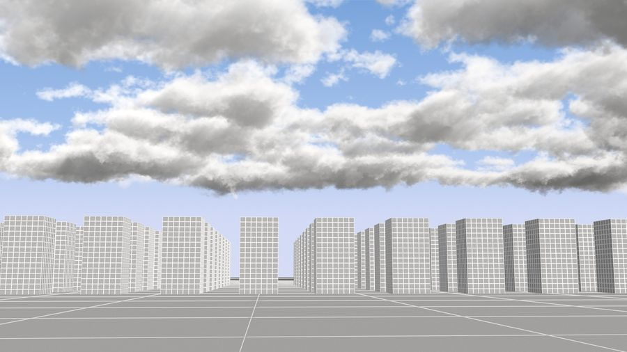 3D Clouds Sky - 6 PACK royalty-free 3d model - Preview no. 14