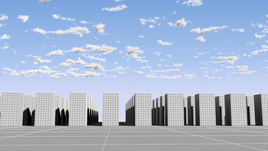 3D Clouds Sky - 6 PACK royalty-free 3d model - Preview no. 18