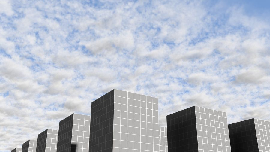 3D Clouds Sky - 6 PACK royalty-free 3d model - Preview no. 26