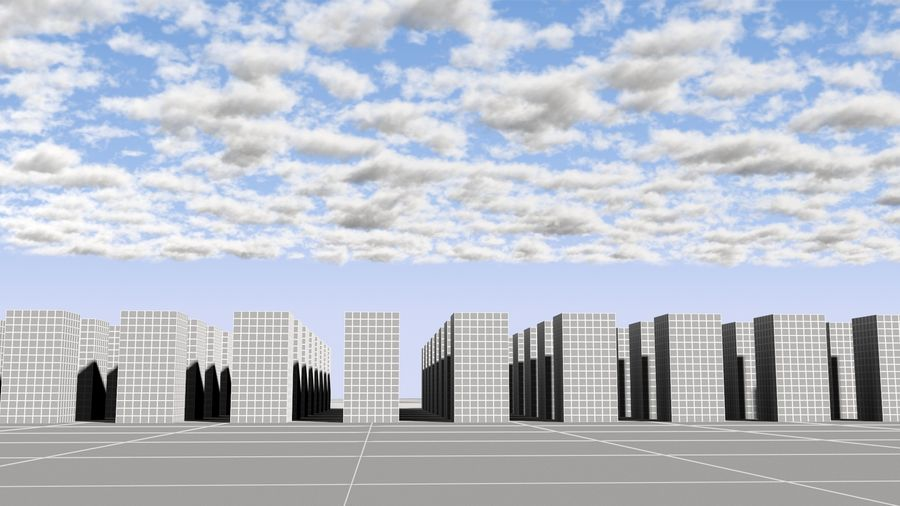 3D Clouds Sky - 6 PACK royalty-free 3d model - Preview no. 22
