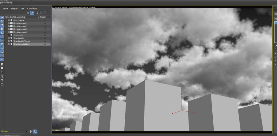 3D Clouds Sky - 6 PACK royalty-free 3d model - Preview no. 15