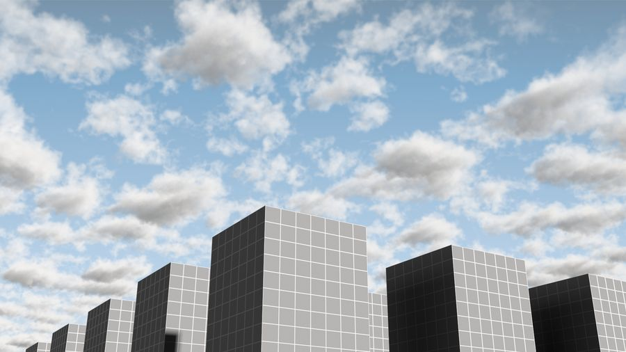 3D Clouds Sky - 6 PACK royalty-free 3d model - Preview no. 21
