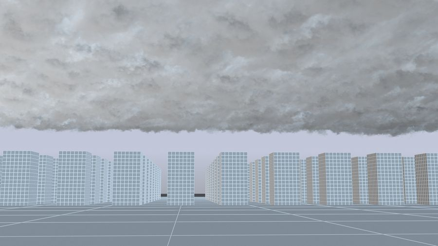 3D Clouds Sky - 6 PACK royalty-free 3d model - Preview no. 32