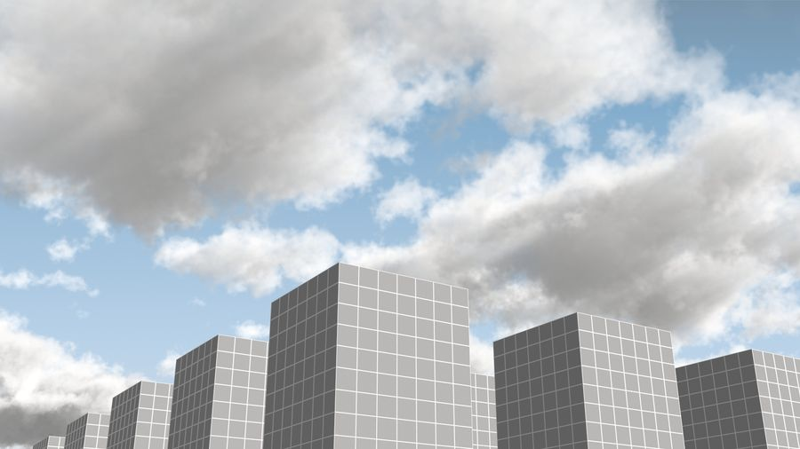 3D Clouds Sky - 6 PACK royalty-free 3d model - Preview no. 13