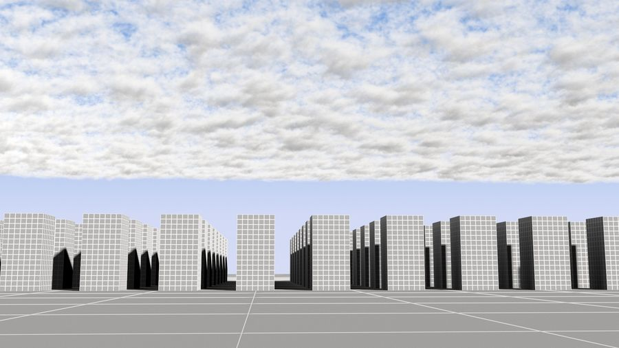 3D Clouds Sky - 6 PACK royalty-free 3d model - Preview no. 27