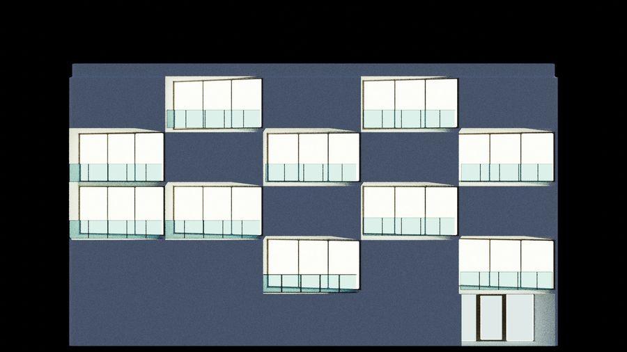 대표성 건축 건물-외관 royalty-free 3d model - Preview no. 3