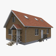 Timber Simple House 3d model