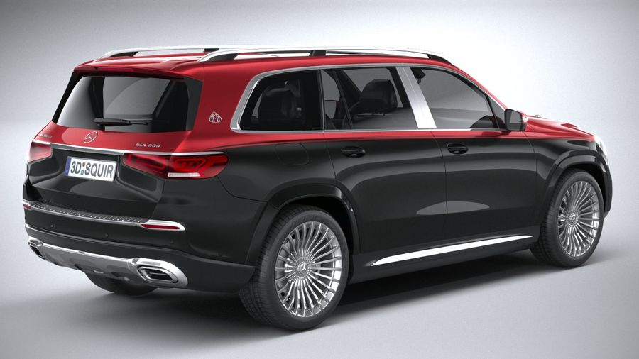 Mercedes-Benz GLS600 Maybach 2021 royalty-free 3d model - Preview no. 18