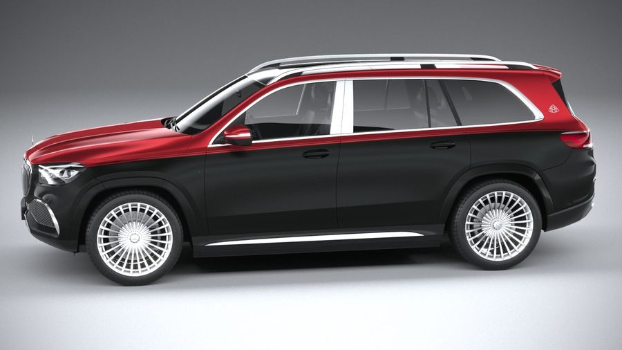 Mercedes-Benz GLS600 Maybach 2021 royalty-free 3d model - Preview no. 9