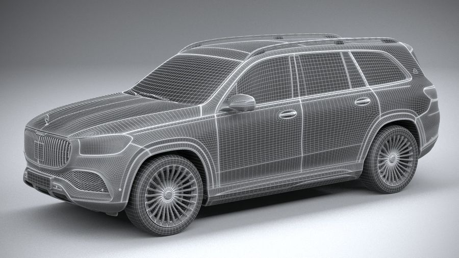 Mercedes-Benz GLS600 Maybach 2021 royalty-free 3d model - Preview no. 27