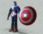 character captain america 3d model