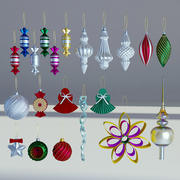 Christmas Balls and Decorations 3d model