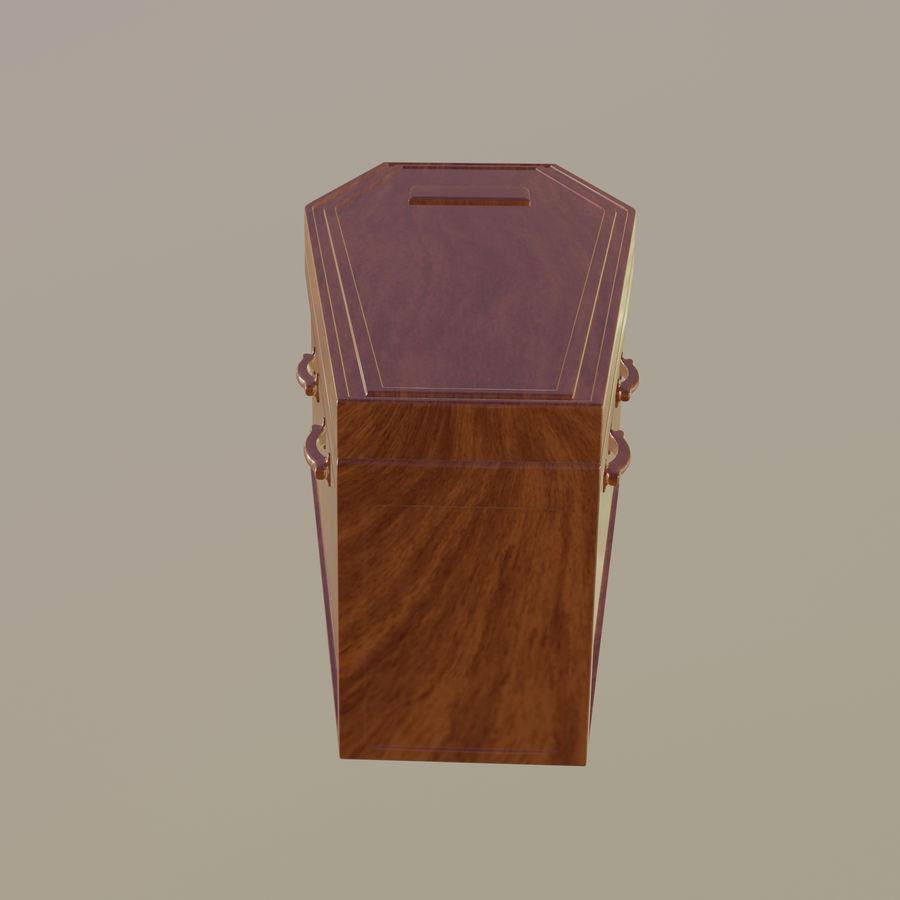 Coffin royalty-free 3d model - Preview no. 6