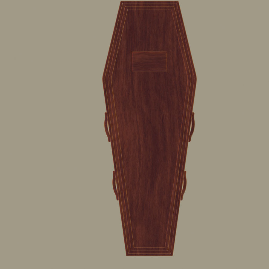 Coffin royalty-free 3d model - Preview no. 4