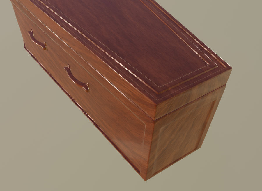 Coffin royalty-free 3d model - Preview no. 12
