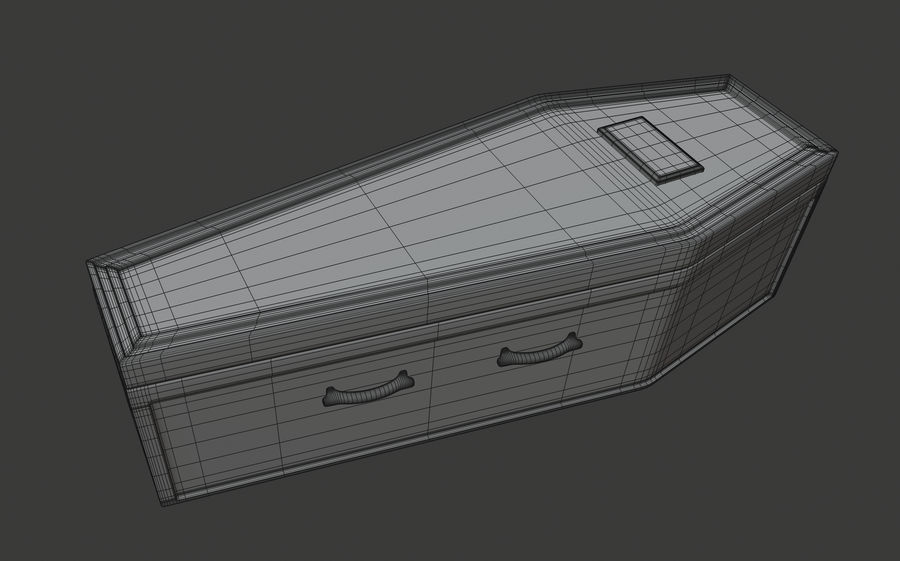 Coffin royalty-free 3d model - Preview no. 15