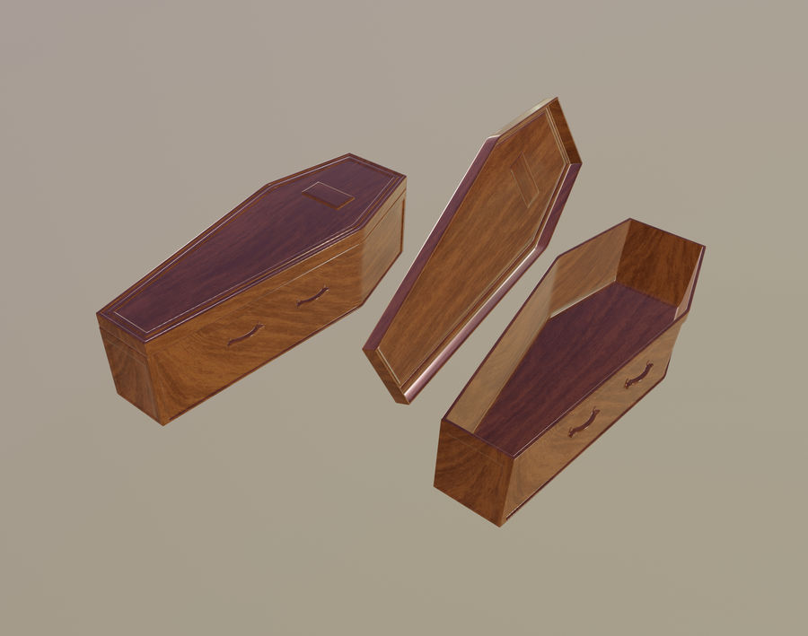 Coffin royalty-free 3d model - Preview no. 1