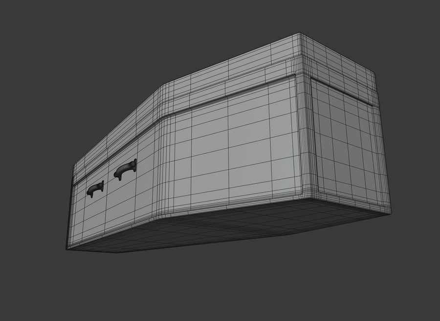 Coffin royalty-free 3d model - Preview no. 16