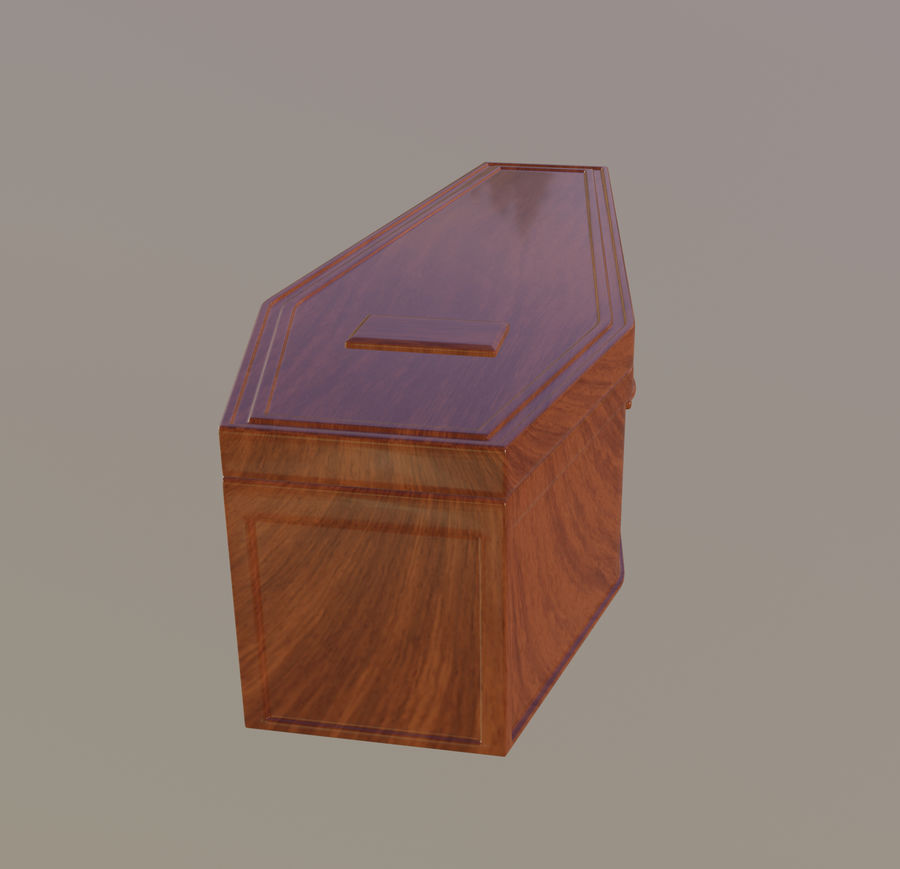 Coffin royalty-free 3d model - Preview no. 9