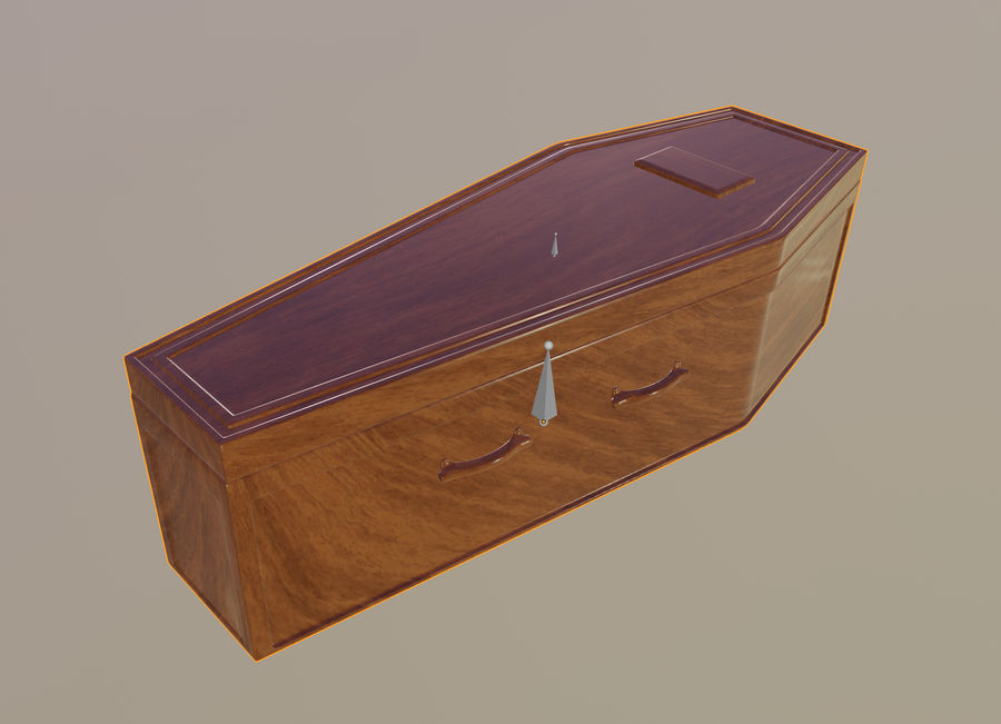 Coffin royalty-free 3d model - Preview no. 13