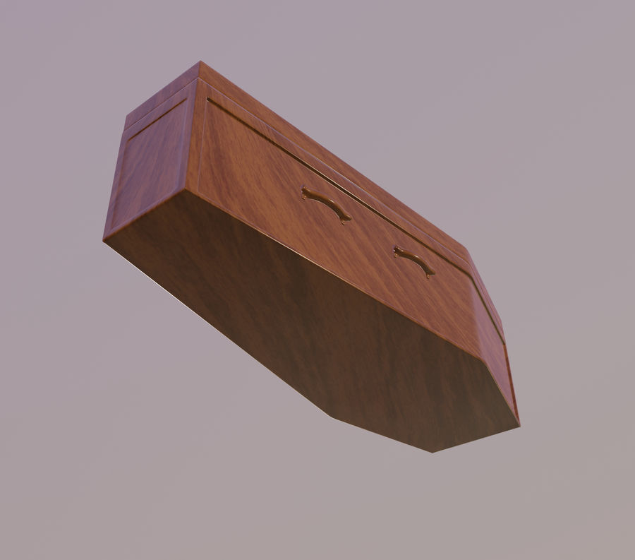 Coffin royalty-free 3d model - Preview no. 7