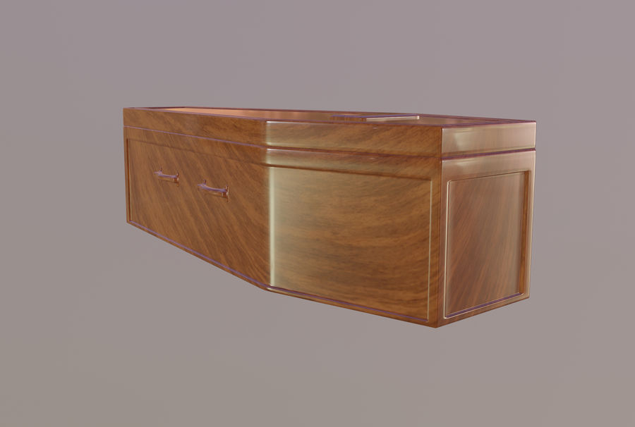 Coffin royalty-free 3d model - Preview no. 8