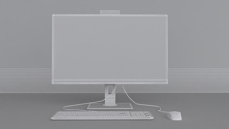Desktop Computer royalty-free 3d model - Preview no. 11