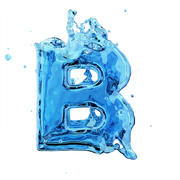 액체 문자 B 3d model