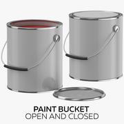 油漆桶打开和关闭 3d model