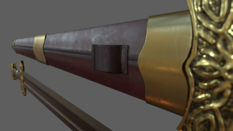Меч викингов royalty-free 3d model - Preview no. 6