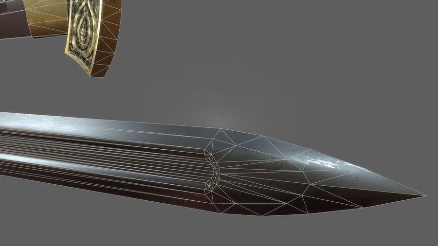 Меч викингов royalty-free 3d model - Preview no. 11