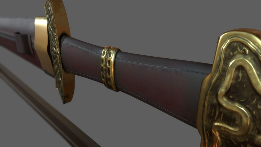 Меч викингов royalty-free 3d model - Preview no. 4