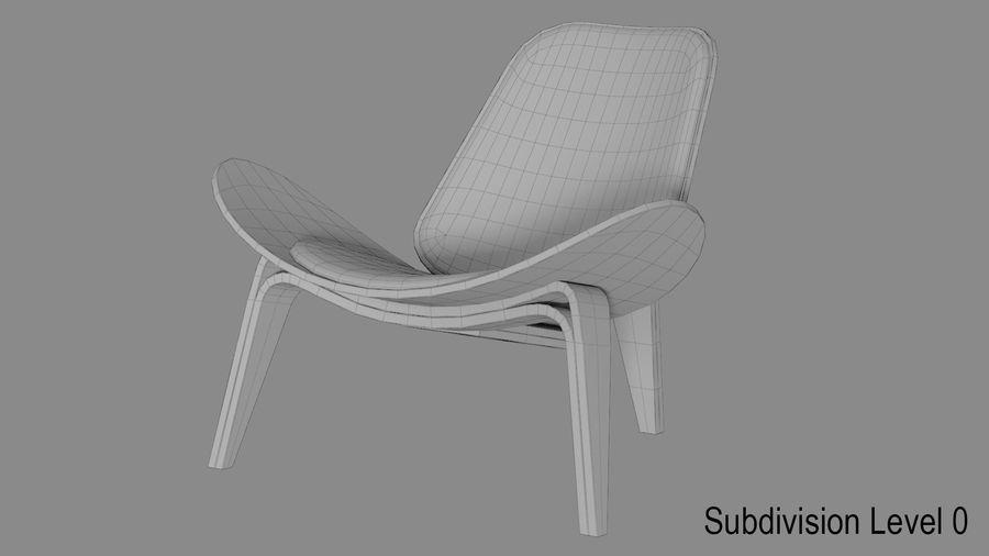 Hans Wegner Kabuk Sandalye royalty-free 3d model - Preview no. 8