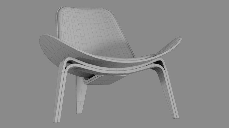 Hans Wegner Kabuk Sandalye royalty-free 3d model - Preview no. 13