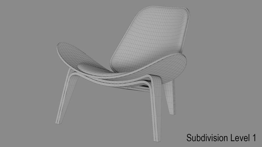 Hans Wegner Kabuk Sandalye royalty-free 3d model - Preview no. 9
