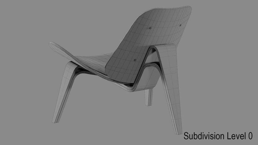 Hans Wegner Kabuk Sandalye royalty-free 3d model - Preview no. 10