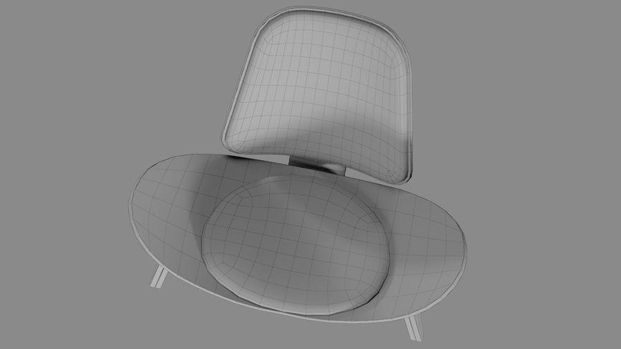 Hans Wegner Kabuk Sandalye royalty-free 3d model - Preview no. 12